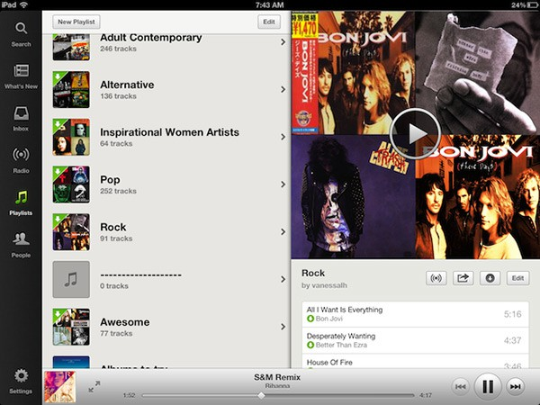 Spotify - an evolved iPad app